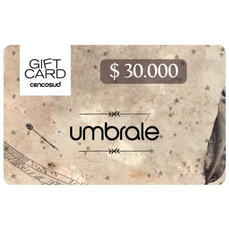 Gift Card Umbrale $ 30.000